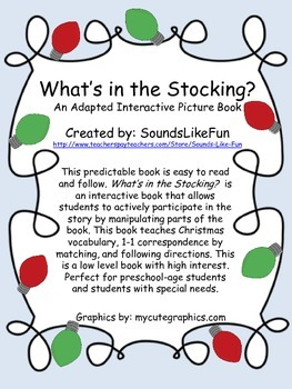 An Adapted Interactive Book: What's in the Stocking?