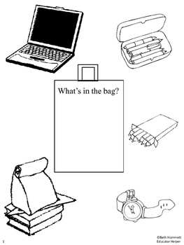 """""""What's in the bag?"""" Parts of Speech & Inferencing Games"""
