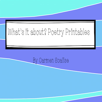 What's it about? Poetry Printables