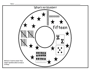 What's my Number Circle maps (numbers to 20)