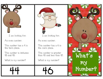 What's my Number ( Mystery Numbers 1-100): Christmas Version