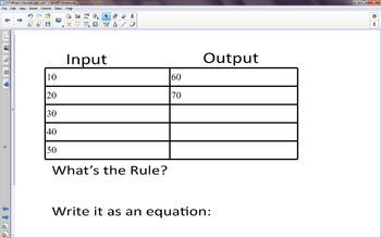 What's my Rule? (addition and subtraction)