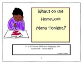 What's on the Homework Menu Tonight?
