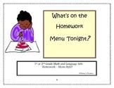What's on the Homework Menu Tonight?