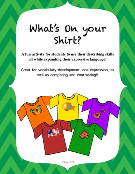 What's on your Shirt?  Improve student's excessive languag