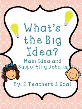 What's the Big Idea? Main Idea and Supporting Details
