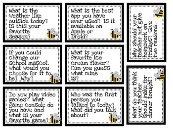 What's the Buzz?-Bee Question Cards