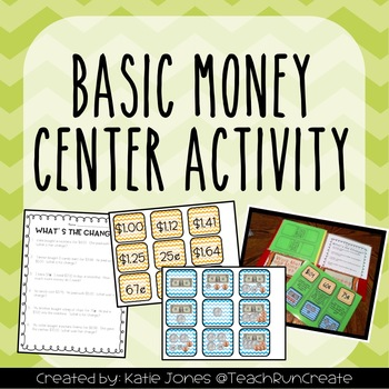 Money Pocket Folder Activity