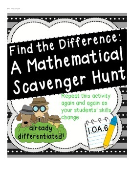 What's the Difference? A Scavenger Hunt for Mathematicians  1.OA.6