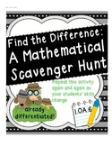 What's the Difference? A Scavenger Hunt for Mathematicians
