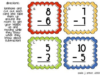 What's the Difference? {A Subtraction Scavenger Hunt}