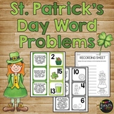 Word Problem Matching Game for St. Patrick's Day, First Grade