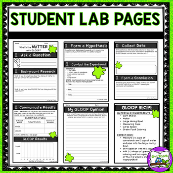 States of Matter Unit - Integrated Lab Activity