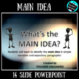 Main Idea PowerPoint Lesson