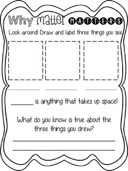 What's the Matter? 1st Grade Science Minibook