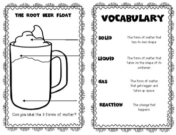 What's the Matter Root Beer Float Experiment Reader Kindergarten & First Grade