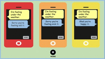 What's the Message?  Texting with Idioms & Figurative Language