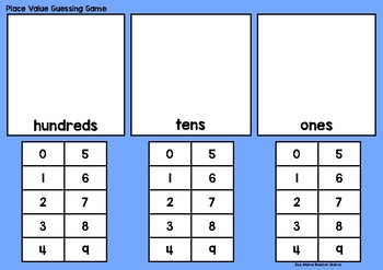 What's the Number? A Place Value Guessing Game