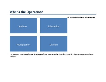 Operation Sort and Questions.