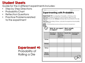 Experimenting with Probability: A Common Core Math Activities