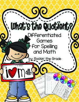 Differentiated Spelling and Math Stations- What's the Quotient?