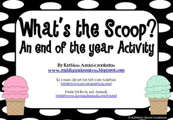 What's the Scoop?: An End of the Year Activity