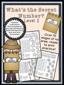 What's the Secret Number? Level 2 No Prep