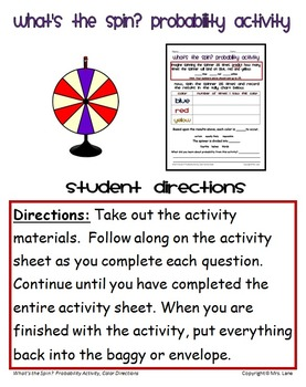 What's the Spin? Probability Activity