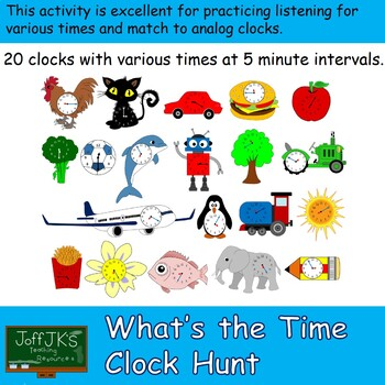 Whats the Time Clock Hunt - 20 clocks at 5 minute intervals