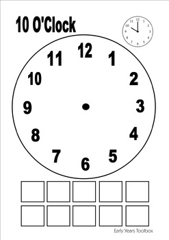 What's the Time? - Clock Playdough and Activity Mats
