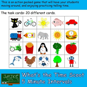 Whats the Time Scoot Game - 5 Minute Intervals