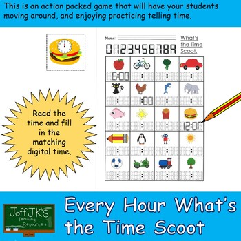 Whats the Time Scoot Game - Every Hour