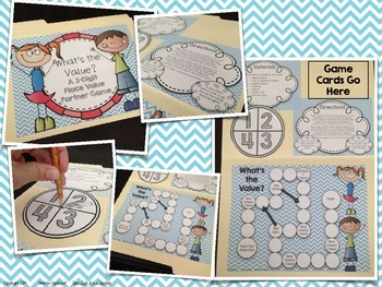 What's the Value? {A Place Value Partner Game}