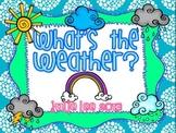 Weather Unit Kindergarten Math & Literacy Centers