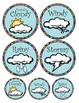 What's the Weather (tags, wall hanging)