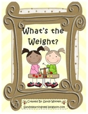 What's the Weight? Measurement Math Station and Math Talk Card