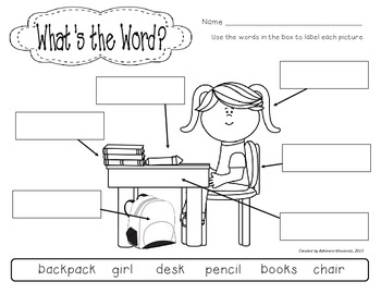 {Freebie!} What's the Word? (Back to School edition)