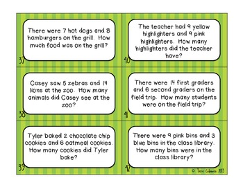 What's the Word? First Grade (classification of word problems)