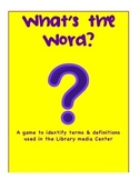 What's the Word Library Definition Skills Game