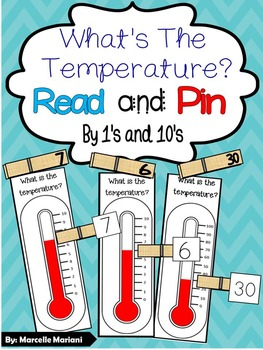 What's the temperature? Math Center Game- 4 Seasons Center- Read & Pin