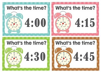 Telling Time - Playdough mats and task cards