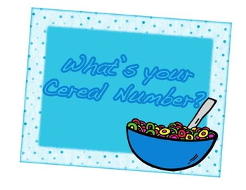 What's your Cereal Number?