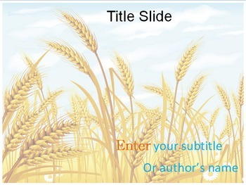 Wheat PPT Template