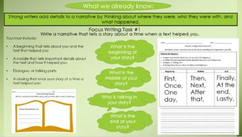 Wheatley: Joy of Reading Unit - Narrative Writing