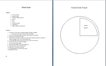 Wheel Book Template and Directions