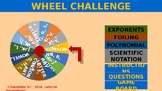 Wheel Challenge with Exponents and Polynomials