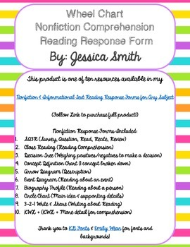 Wheel Chart Nonfiction Reading Response Form