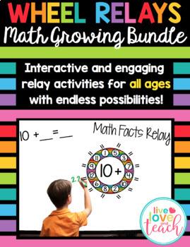 Wheel Relays for Math - Rainbow Growing Bundle