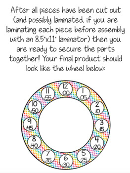 Wheel Relays for Math - Rainbow Growing Bundle