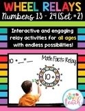 Wheel Relays - Rainbow Math Set #2